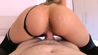 Big Ass Blonde Rides the Neighbor's Cock like a Pro - Cumtonic