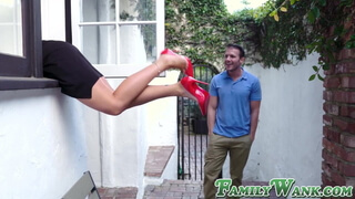Bombshell MILF Crystal Rush double teamed by hung stepsons