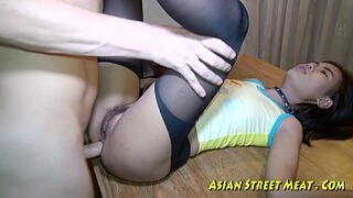 Asian Woman Dribbles Semen After Anal Intercourse