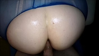 See Through Yoga Pants Fuck And Aggressive Wank Off Cumshot. Big Ass MILF Gets Fucked In Worn Out And Torn Leggings After Being Oiled Up. Real Homemade Amateur POV Porn Hardcore Porn