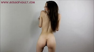 Horny Teen Showcase Perfect Naked Body with Big Fake Tits for You Solo