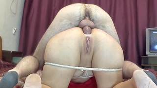 Stepson Fucked his Mother in the Big Ass and Cum in Anal. Stepmom and Son