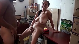 Amateur MILF with big saggy tits gets fucked in wet pussy. Homemade sex video with big ass slut. Cum on body. Hot German mom