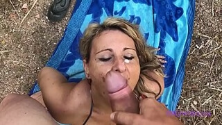 My Wife Luna - Fucked with a known milf on the beach, mega blowjob and big ass fucked