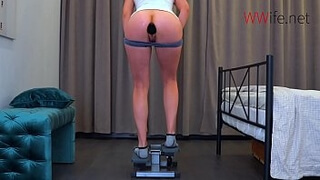 Butt Plug during workout - Large Plug in my Tight Ass!