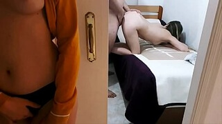 MY BOYFRIEND FUCKS MY YOUNGER SISTER, AND SHE HAS AN ORGASM (Doggystyle)