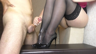 Step Sis Femdom Handjob on her Shoes