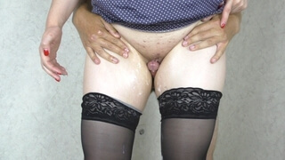 Step Sister Assjob, Pussyjob and Cum on my Legs in Stockings