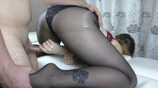 Amateur Teen Big Ass Handjob - Cum Feet Pantyhose