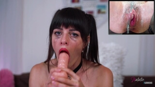 Fuck my Mouth and see how my Pussy Reaction