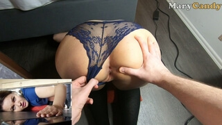 Stuck under the Bed and Fucked in Juicy Pussy by Step Brother