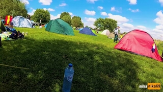 VERY RISKY SEX IN a CROWDED CAMPING AMSTERDAM , PUBLIC POV by MihaNika69