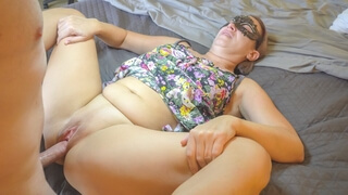 MILF IN LONG DRESS SUCKS DICK, BENDS OVER AND TAKES IT , SexWithMilfStella