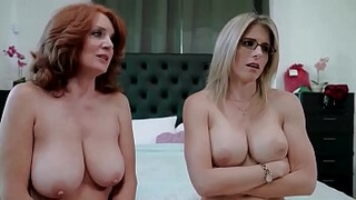 Redhead granny and mom wants me - Andi James and Cory Chase
