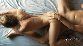 POV - Girl Rides Cock in the Morning and Gets Creampie