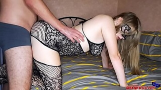 Sexy Girl Doggystyle Fucking and Sensual Sucking Dick for a Birthday