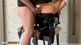 Anal Sex on a Chair - Amateur