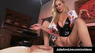 Mature Mommy Julia Ann Mounts Young Boy Toy's Eager Face
