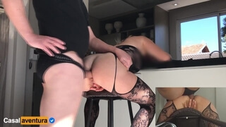 Dripping Wet Pussy on second Anal Fuck! he Cums Twice!