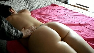 Bbw milf exhibitionist leaves the curtains open for a nude massage