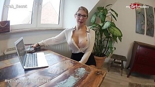 MyDirtyHobby - Teen Sarah fucks her coworker in the office