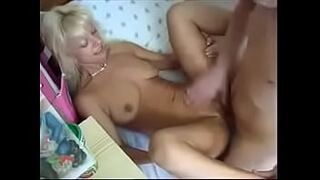 Russian Blonde Beauty Milf Home Sex Young Guy