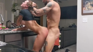 Photoshoot/Quick Kitchen Fuck (Fanny Taps out after Squirting)