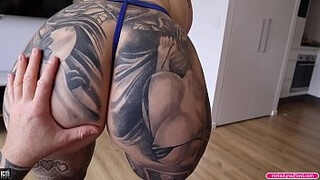 BIG TIT Thick Big ASS Step MOM Titty and Pussy Fucking Hard While Wearing SEXY Blue Lingerie Then Takes TEENS Massive CUM Shot - Melody Radford