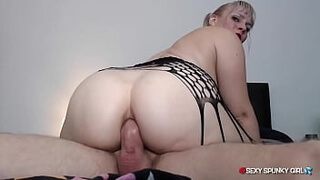 Intense Anal Fuck: Big Ass Girl Rides A Cock & Gets Cum in Her Tight Asshole