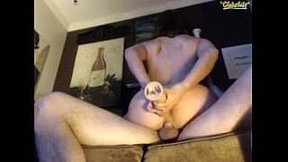 Camgirl Heidi riding dick and playing with dildo