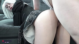 [Cosplay video NieR: Automata] Fucked and creampied busty girl in cosplay 2B YoRHa No.2 Type B ! loaded my android girl with sperm ! Throbbing cock in the pussy of a beauty, she is so happy with sperm inside herself!