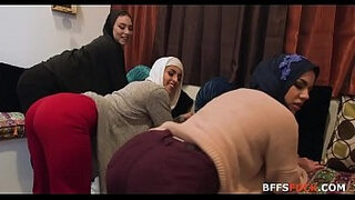 Chicks in HIJAB fuck BBC one las time before marriage