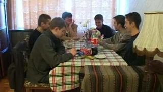 russian granny with young guys