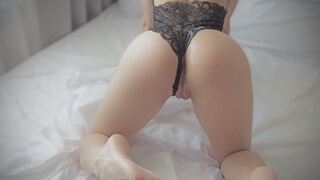 Romantic Morning Sex, Babe made me Cum on Lacy Lingerie