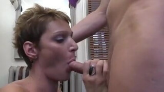 Hot milf and her younger lover 34