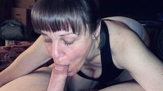 Friends Mom Sucking the Life out of me and Making me Explode in her Mouth no Hands and Showing Cum