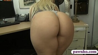 Big ass blonde woman nailed by pawn man