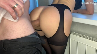 Fucked a schoolgirl in her tight asshole