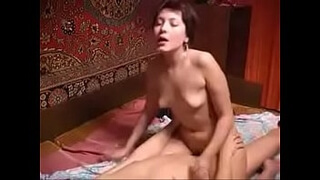 Russian mature and boy having some fun alone