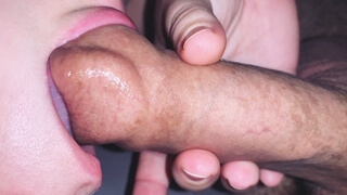 Slurping and Sucking on a Slippery Soft Cock