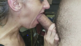 Granny Gummer Gagging on Dick - first with Dentures, then Takes them out