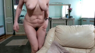 Cute Blonde MILF With Saggy Tits Trying To Make Herself Cum
