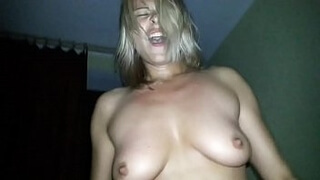 Russian girl Lida rides on cock