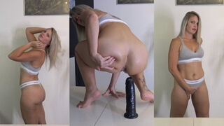 Come Watch me Ride this Big Dildo in Anal !!!