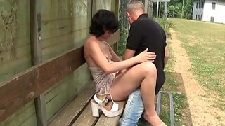 Italian whore fucked by the gas station