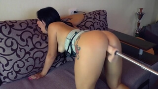 Compilation of Orgasms from a Fuck Machine