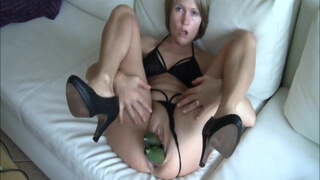 Hot milf and her cucumbers
