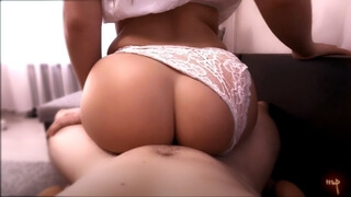 I Pulled off my Lace Panties and he Cum in my Pussy very Deeply.