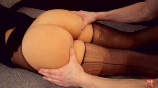 Tore Tights and Gently Stroking my Sweet Ass
