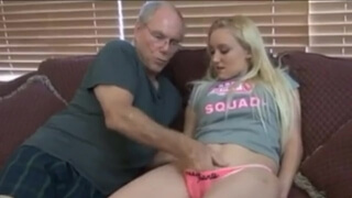 Young Blonde Anneliese Snow Fucked twice at Uncles Home